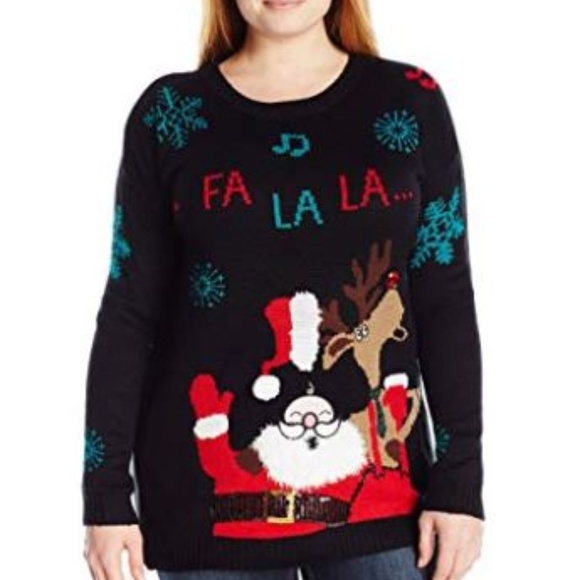 Plus Size Ugly Christmas Sweater.Women S Plus Size Santa Ugly Christmas Sweater Boutique